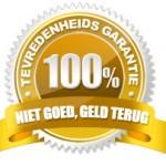100% niet goed geld terug garantie
